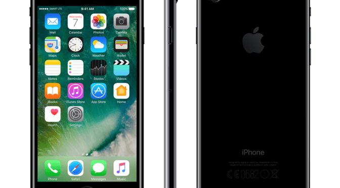 Smart iPhone 7 Jet Black available for pre orders starting October 28