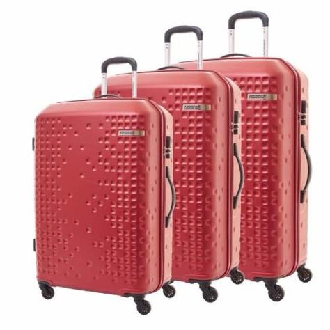 Lazada Grand Christmas Sale 2016 American Tourister Cruze Spinner 3-Piece Set Luggage in Red