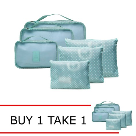 Lazada Grand Christmas Sale 2016 Travel Manila 6 in 1 Packing Bags Buy 1 Take 1