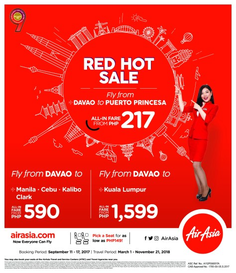 AirAsia's Red Hot Sale - September 2017