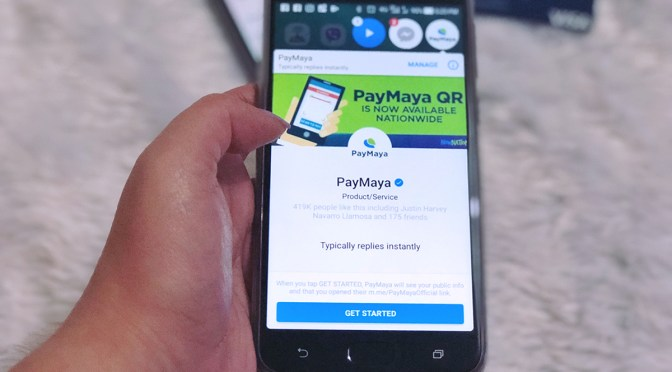 PayMaya in Messenger