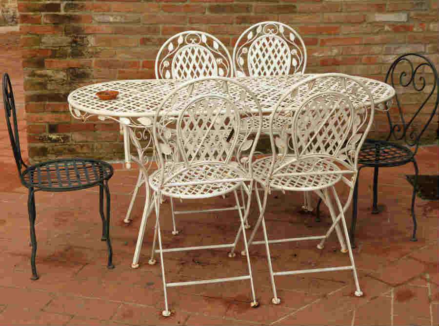 metal patio chair gray recliner covers how to paint furniture diy painting tips