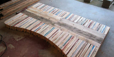 Table made with pallet boards natural transformations - Fabriquer table palette ...