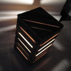 Diy Living Room Side Tables Green Paint Bedside Lamps Shaped Like A Cube Made With Palletsdiy ...