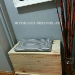 Diy Pallet Living Room Furniture Modern Wallpaper For Trunk And Seat Made With Planksdiy ...