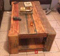 Coffee table for the living room with reclaimed woodDIY