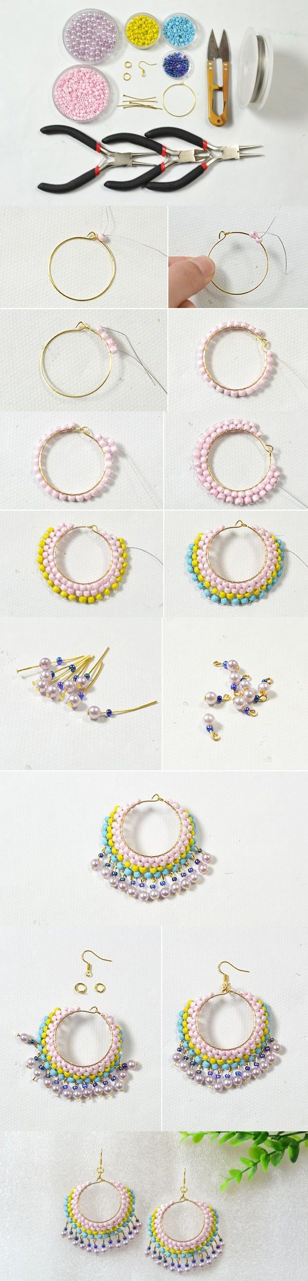 DIY Jewelry: Easy Earring Design for Green Hands – Making Beaded ...