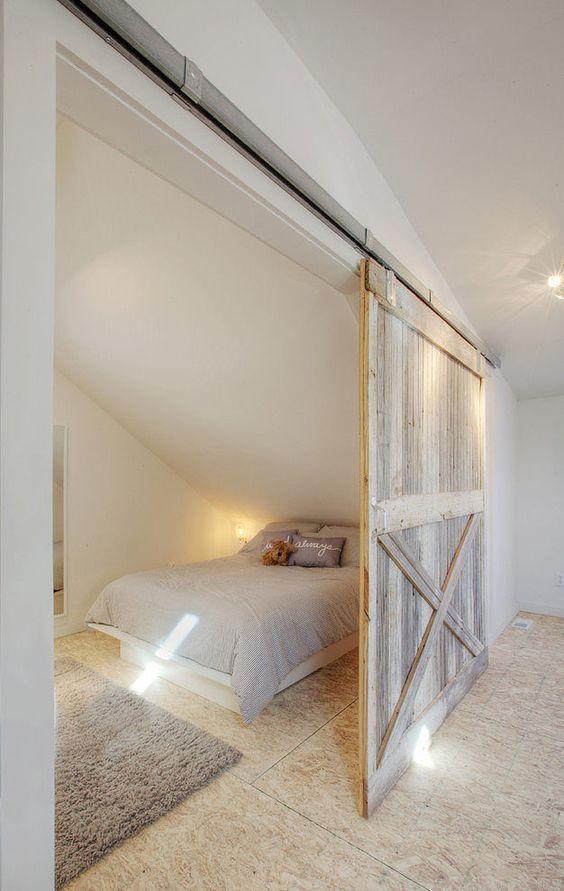 Trends diy decor ideas une jolie chambre au look naturel - Grande porte coulissante ...