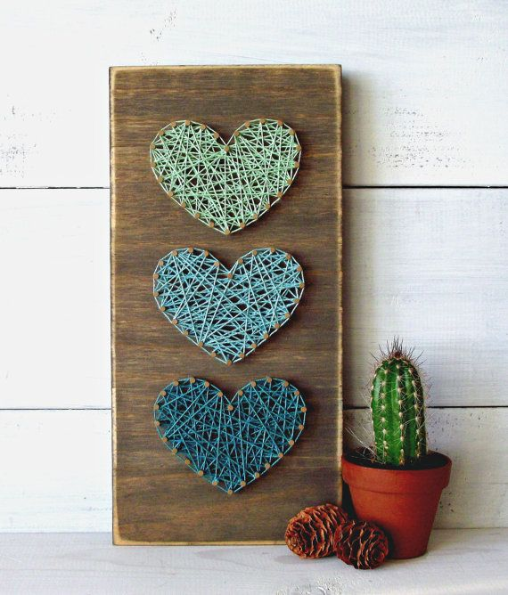 Trends Handmade Board Ideas : Teal & Mint Mini Hearts ...