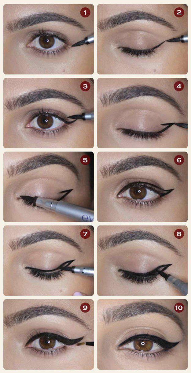 Diy Makeup Tutorials Winged Eyeliner
