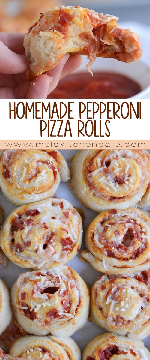 DIY Party Food : Homemade Pepperoni Pizza Rolls   Mel\'s Kitchen Cafe ...