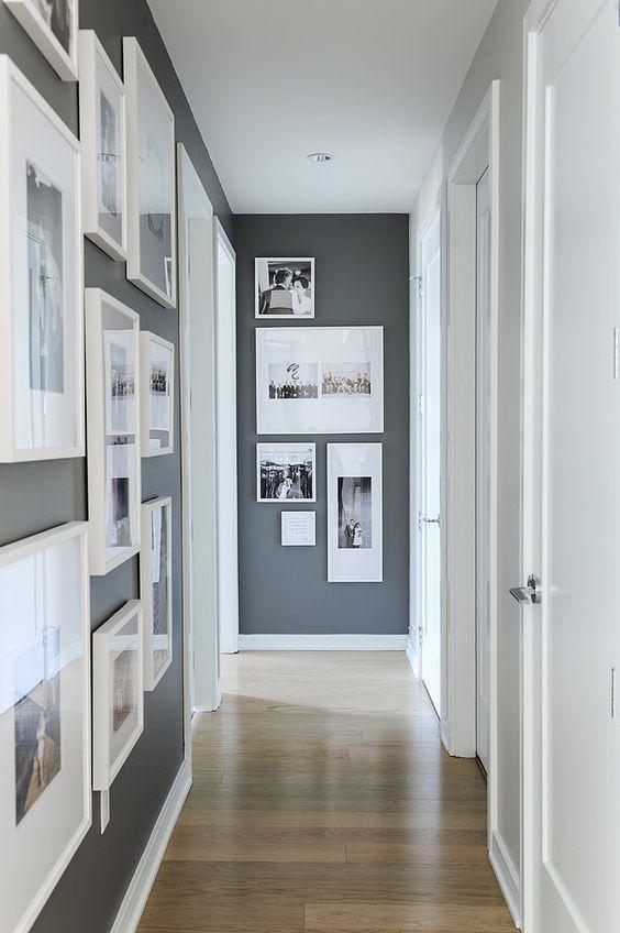 Trends Diy Decor Ideas : Décoration Couloir Gris Et Blanc Avec Des