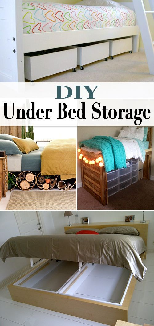 DIY Under Bed Storage • When storage is tight, use these creative solutions to...