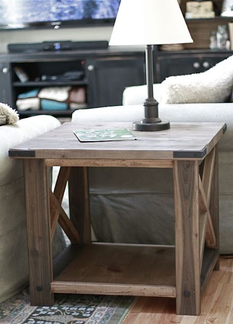 Ana White | Build a Rustic X End Table | Free and Easy DIY Project and Furniture...