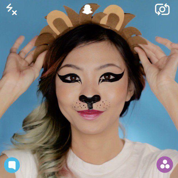 diy makeup tutorials snapchat lion filter super cute