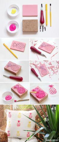 Diy Crafts Ideas : Easy and cute! DIY Pineapple Print