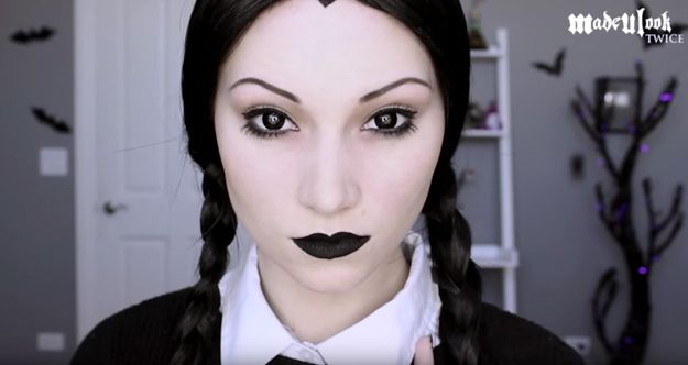 and youre done wednesday addams halloween makeup tutorial