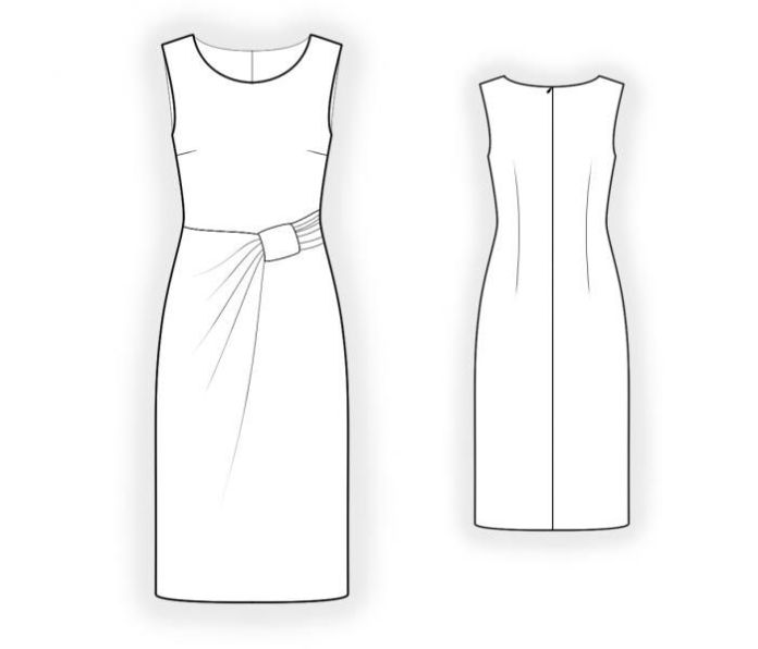 Dress With Pleats  - Patrons de couture #4404 Les patrons de couture Lekala fait...