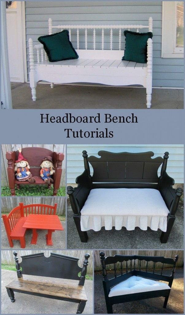 diy furniture plans & tutorials : how to make a headboard bench-lots