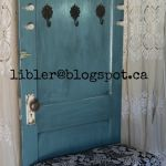 Diy Furniture Plans Tutorials Turquoise Hall Tree Made Out Of An Old Door Diypick Com Your Daily Source Of Diy Ideas Craft Projects And Life Hacks
