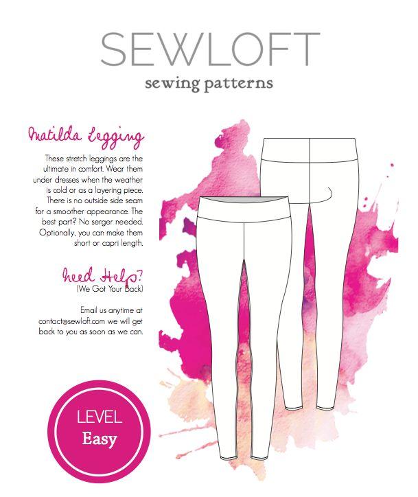 Diy Clothing Tutorials Sewloft Matilda Leggings Free Sewing