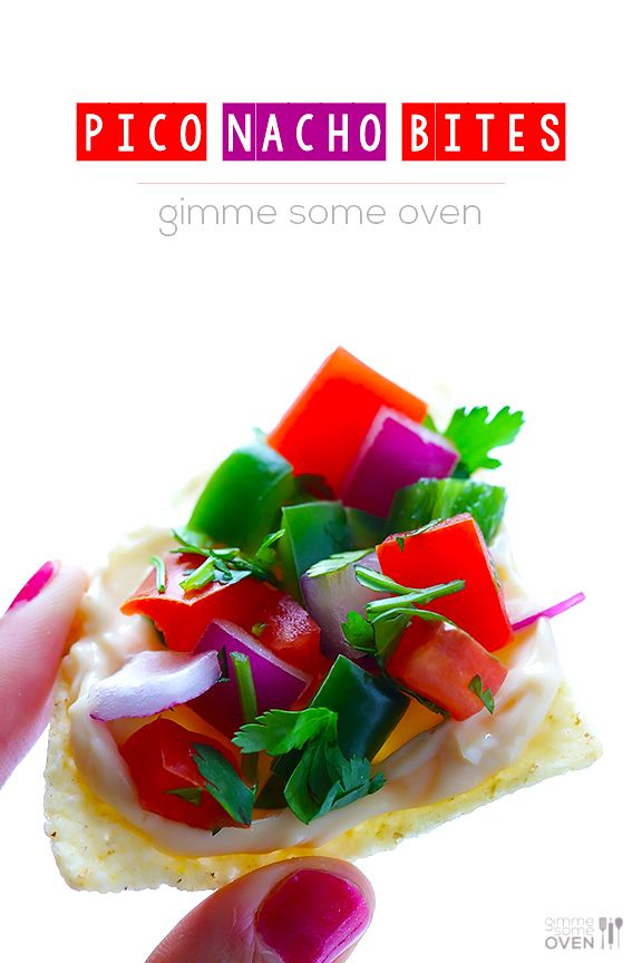 These Pico Nacho Bites are the perfect quick and easy snack (or appetizer!) when...