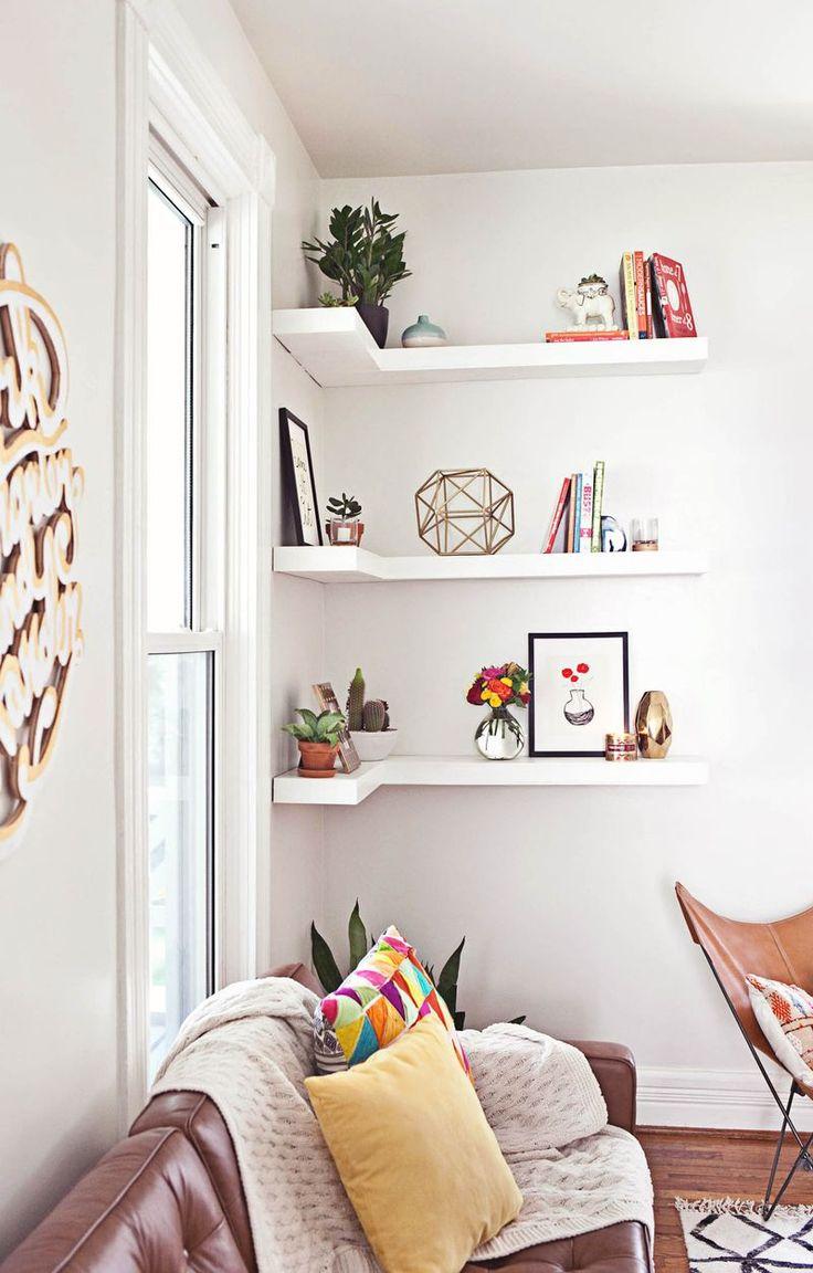 diy shelves in living room white carpet ideas abm makeover etageres dans un best furniture shelf 2017 2018