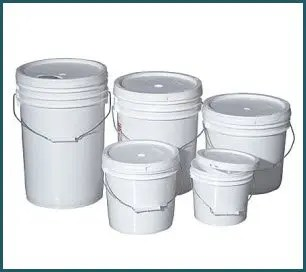 All sizes of buckets and bins and even bags are smart to store.