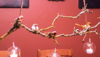 Natural Branch Suspended Table Centerpiece