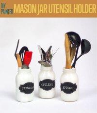 Mason Jar Utensil Holders DIY Projects Craft Ideas & How ...