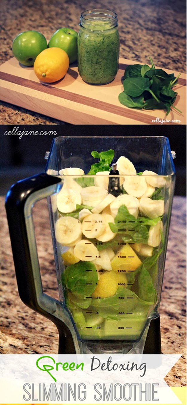 Victoria Secret Slimming Detox Smoothie Recipe | www.diyprojects.com/13-detox-smoothies-proven-to-boost-your-energy/