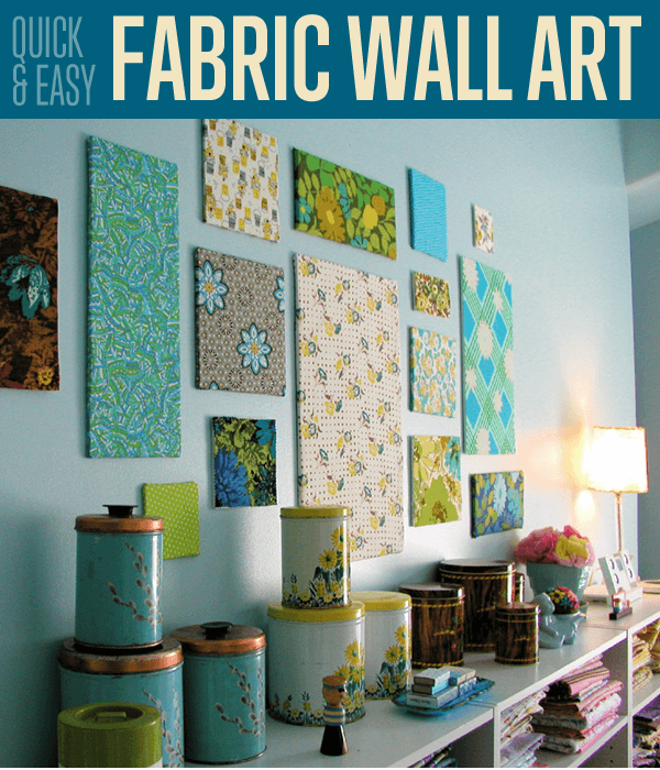 fabric wall art diy projects craft ideas how to s for home decor