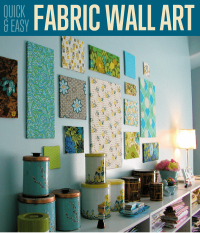 Fabric Wall Art DIY Projects Craft Ideas & How Tos for