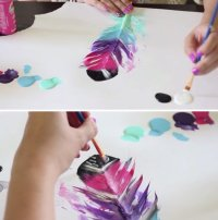 How to Paint Feathers DIY Projects Craft Ideas & How Tos ...