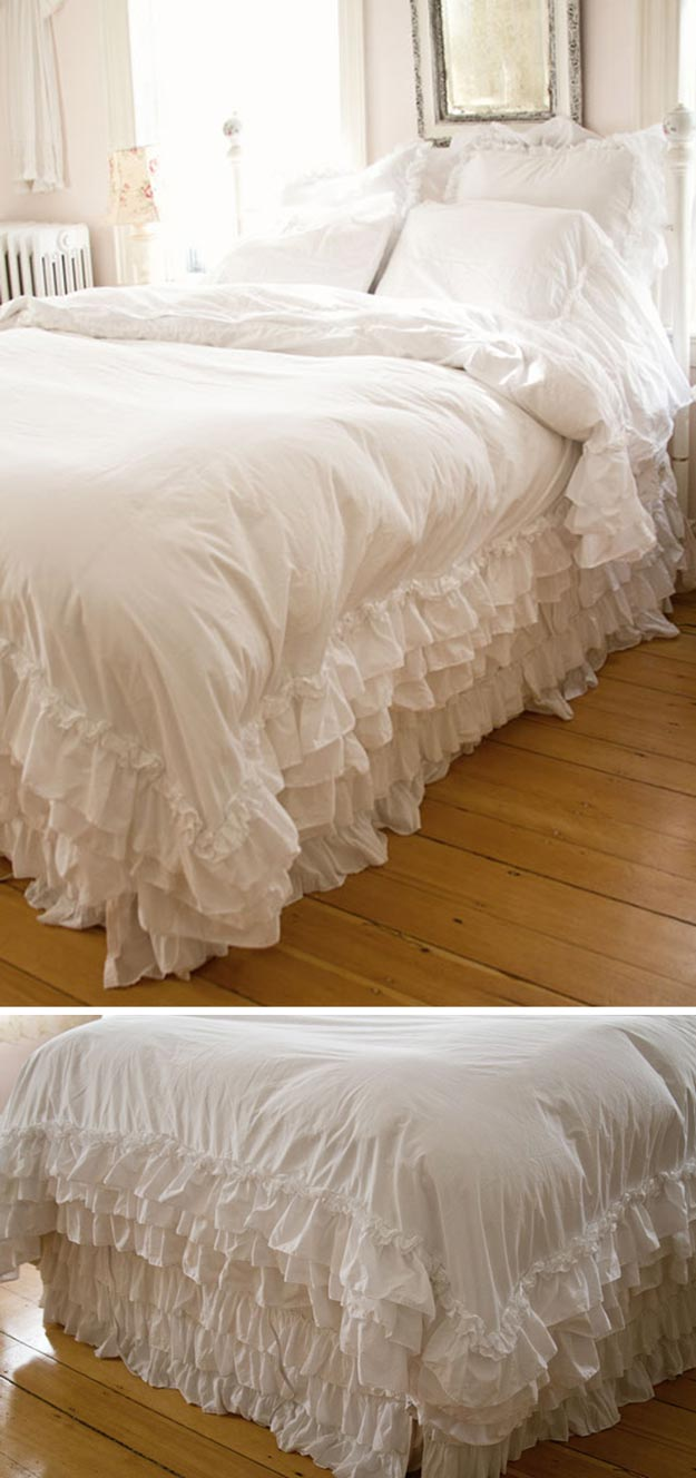 Shabby Chic Bedding Ideas DIY Projects Craft Ideas  How Tos for Home Decor with Videos
