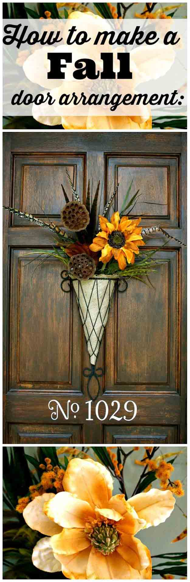 Fall Door Decorations And Wreaths DIY Projects Craft Ideas