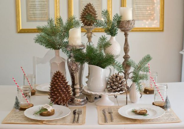 Rustic Christmas Centerpiece | DIY Christmas Centerpiece Ideas To Complete Your Table