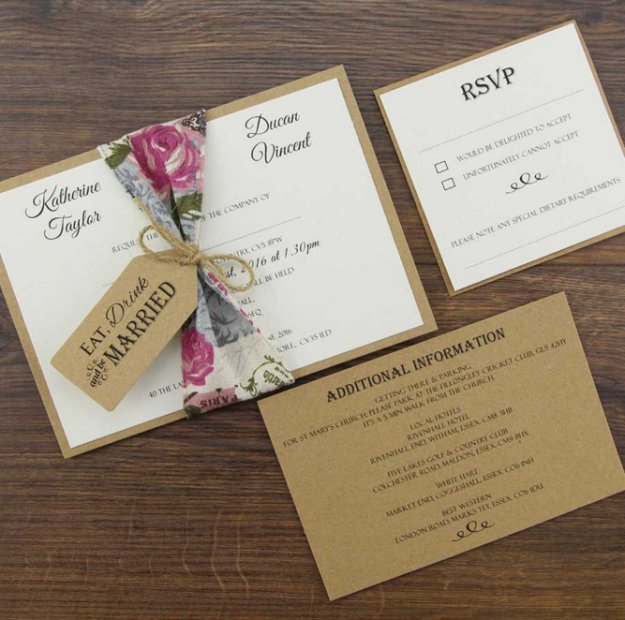 Custom Wedding Invitation Kits DIY Projects Craft Ideas