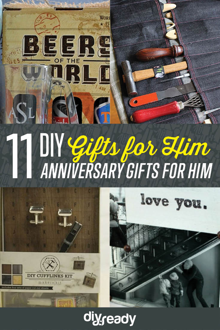 Anniversary Gifts for Him DIY Projects