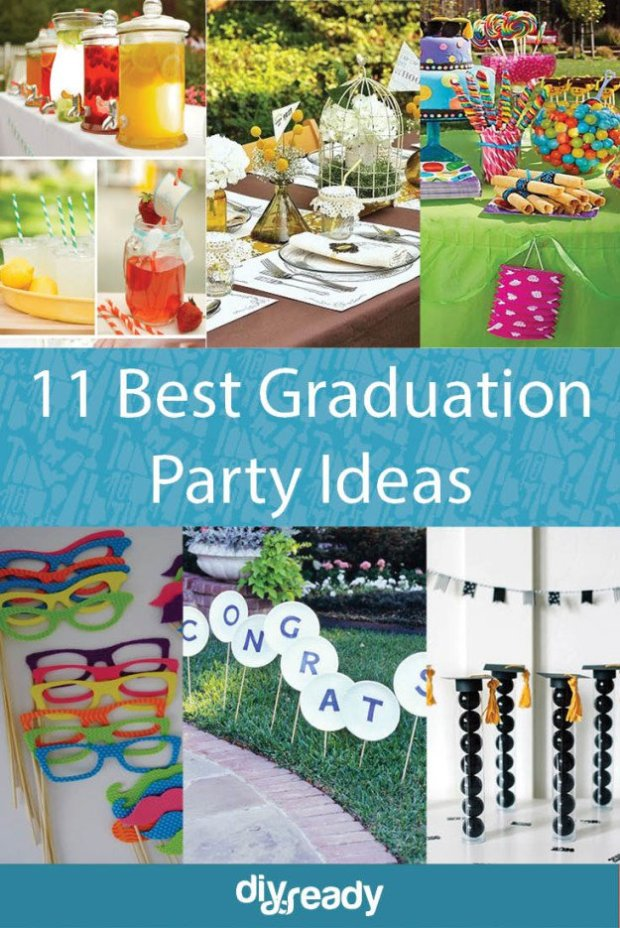 Graduation Party Ideas To Celebrate The Big Day | https://diyprojects.com/graduation-party-ideas/