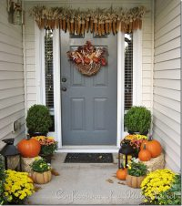 Autumn Front Door Decoration Ideas DIY Projects Craft ...