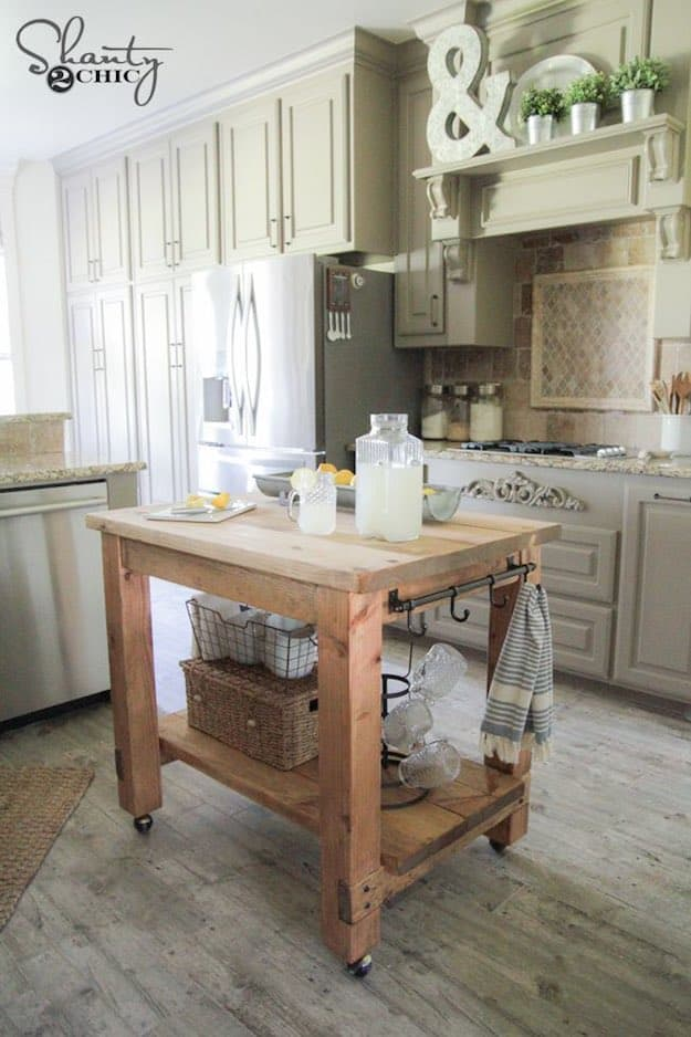 kitchen islands with wheels cart stools simple diy island ideas for everyone | projects