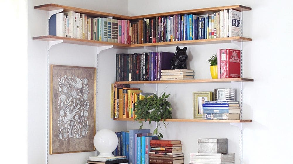 diy living room white corner tv units for 13 simple shelving ideas projects