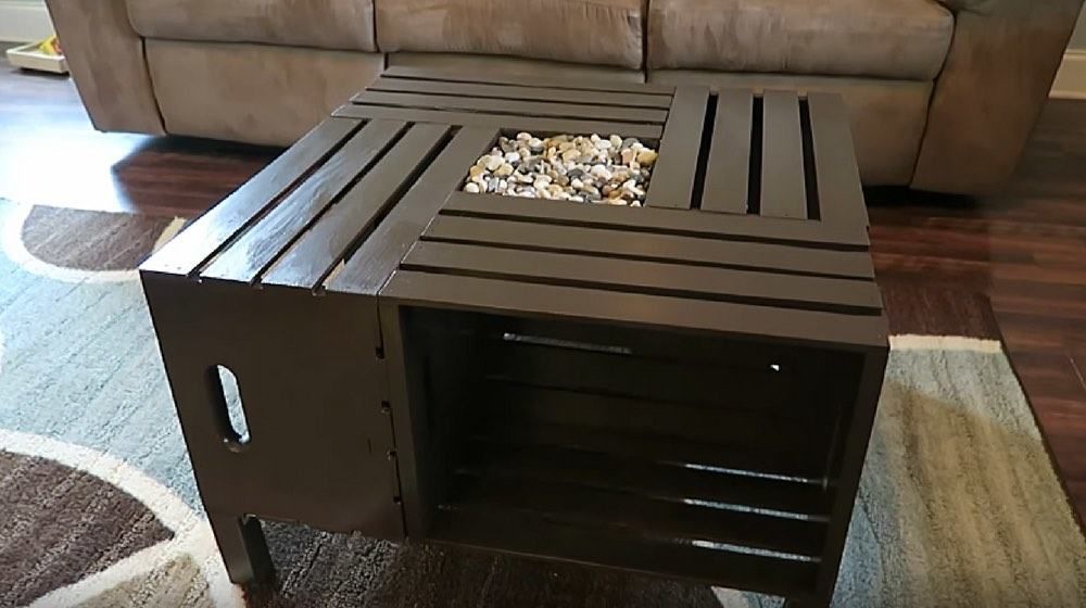 rustic wine crate coffee table an