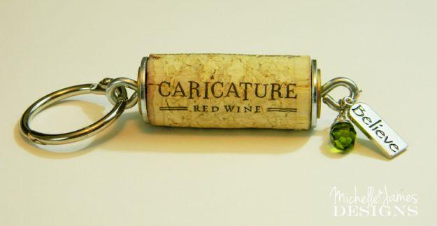 DIY Keychains   Impressive Ways To Reuse Wine Corks
