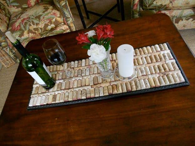 Wine Cork Tray   Impressive Ways To Reuse Wine Corks