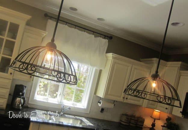 Garden Basket Pendant Lights | DIY Pendant Lighting Projects