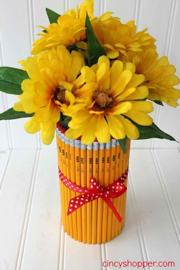 DIY Pencil Vase | DIY Teacher Gifts To Ring In The New School Year