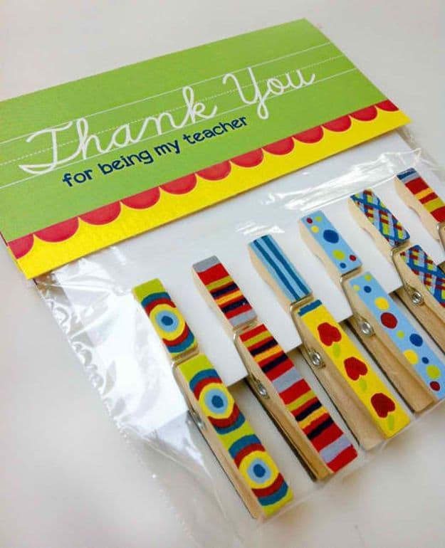 Magnetic Clothespins | DIY Teacher Gifts To Ring In The New School Year