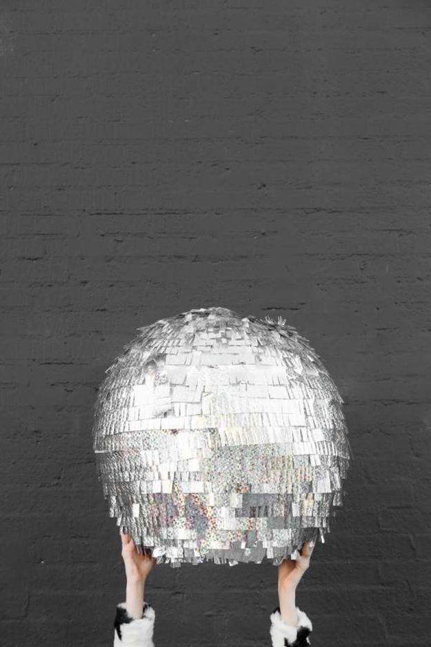 DIY Disco Ball Pinata | DIY Teen Room Decor Projects